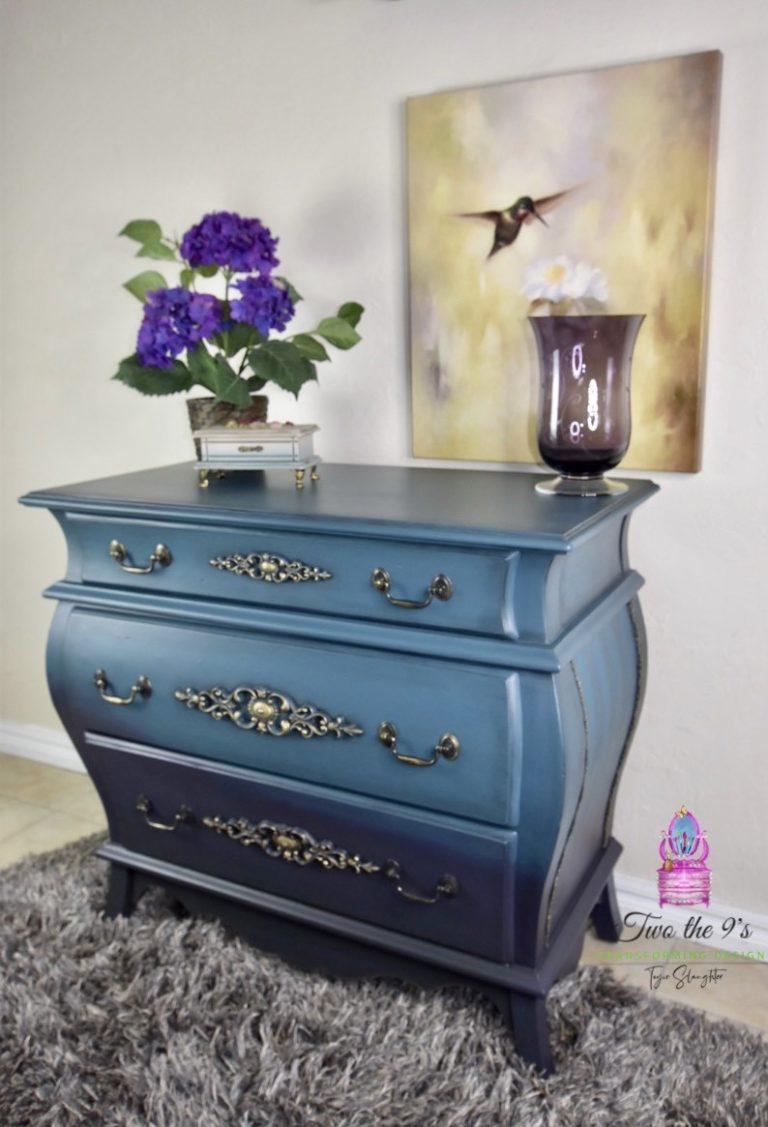 Blue Bombay Dresser